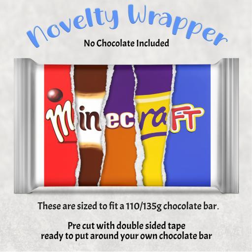 Minecraft Chocolate Bar Wrapper