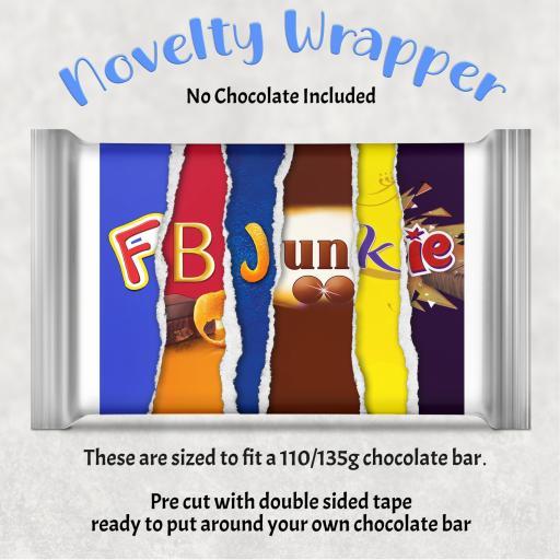 FB Junkie Chocolate Bar Wrapper