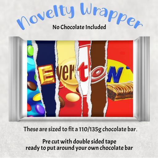 Everton Chocolate Bar Wrapper