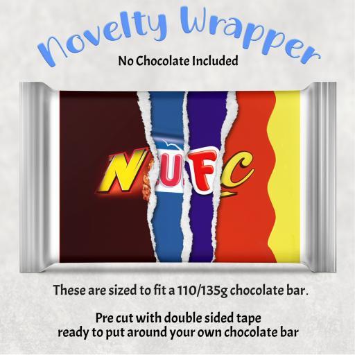 NUFC Chocolate Bar Wrapper