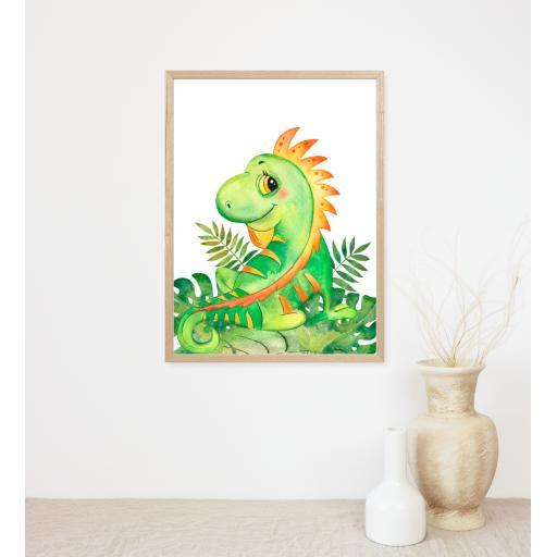 Bearded Dragon Baby Animal Print