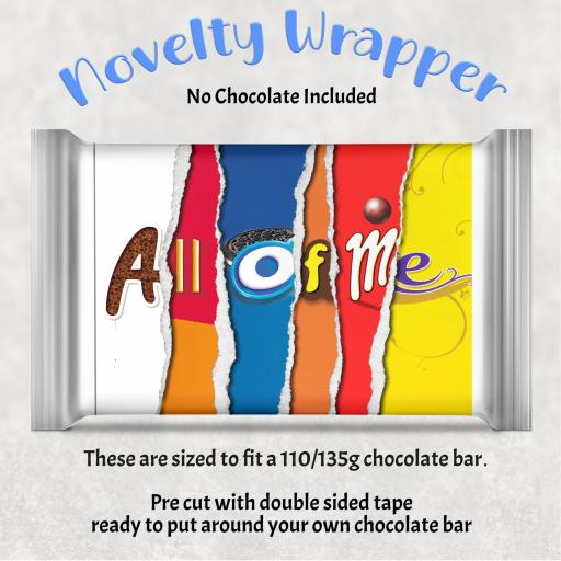 All of Me Chocolate Bar Wrapper