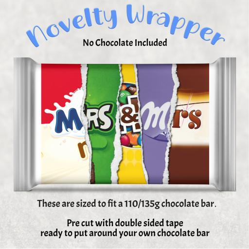 Mrs & Mrs Chocolate Bar Wrapper