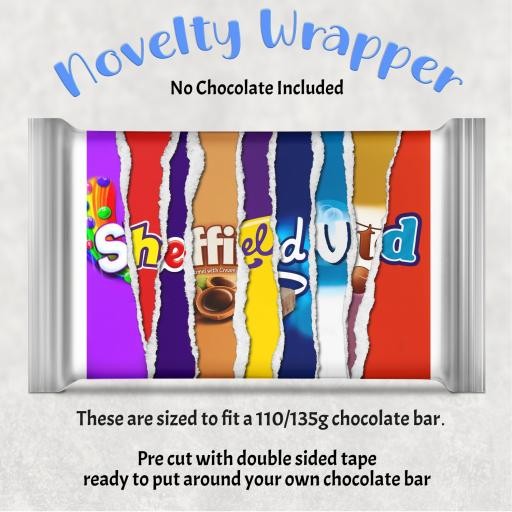 Sheffield Utd Chocolate Bar Wrapper