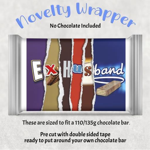 Ex Husband Chocolate Bar Wrapper