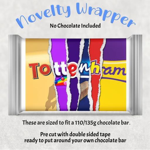 Tottenham Chocolate Bar Wrapper