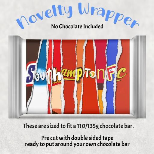 Southampton FC Chocolate Bar Wrapper