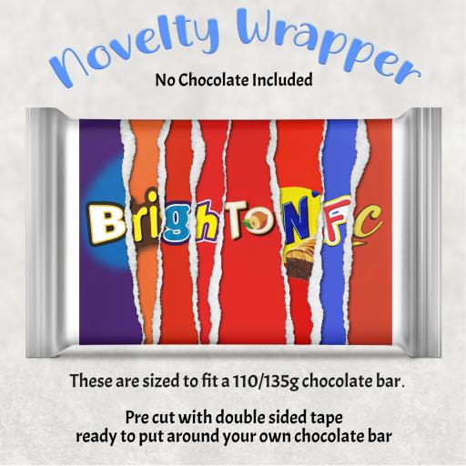 Brighton FC Chocolate Bar Wrapper