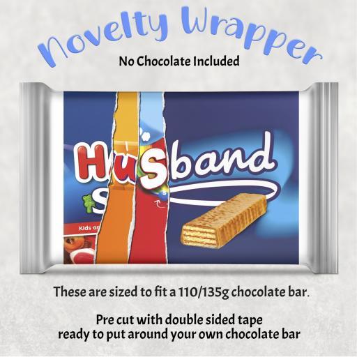Husband Chocolate Bar Wrapper