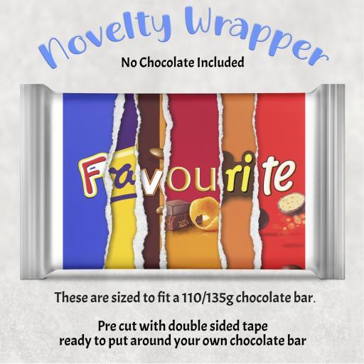 Favourite Chocolate Bar Wrapper