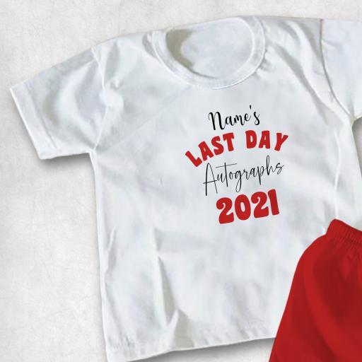 Leavers Signable Personalised DTG Kids Clothing