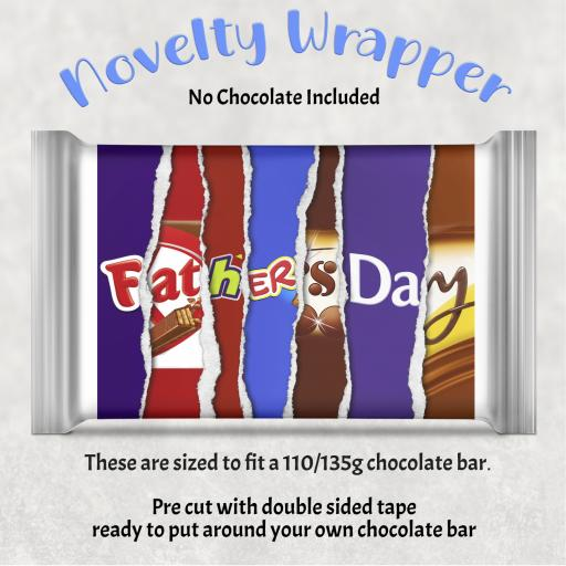 Father's Day Chocolate Bar Wrapper