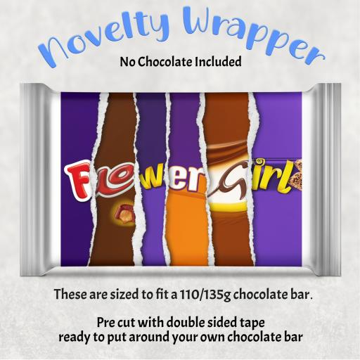 Flower Girl Chocolate Bar Wrapper