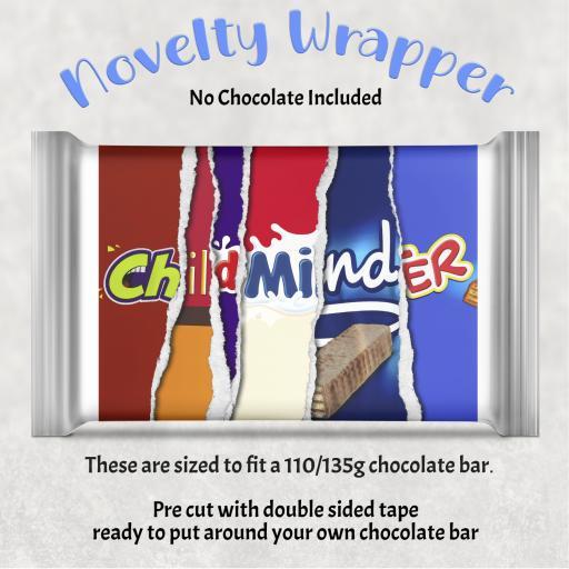 Child Minder Chocolate Bar Wrapper