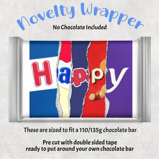 Happy Chocolate Bar Wrapper