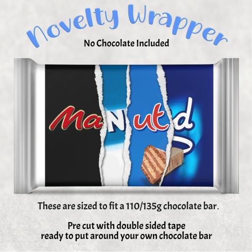 Man Utd Chocolate Bar Wrapper