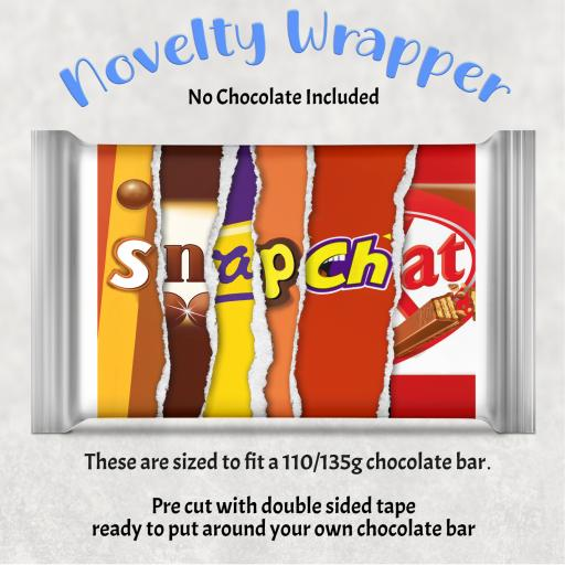 Snapchat Chocolate Bar Wrapper