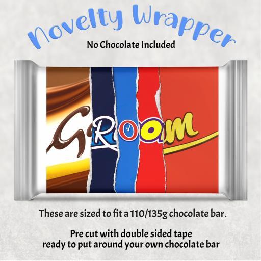 Groom Chocolate Bar Wrapper