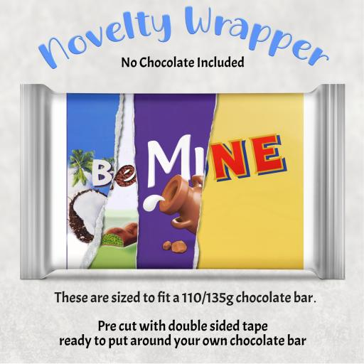 Be Mine Chocolate Bar Wrapper