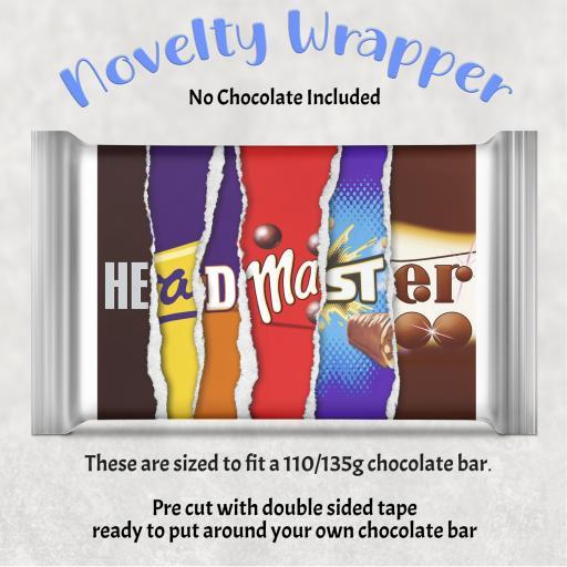 Head Master Chocolate Bar Wrapper