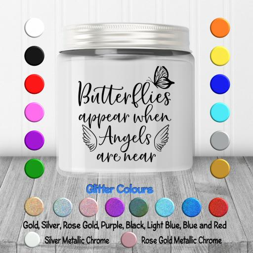 Butterflies Appear when Angels are near Candle Decal / Sticker / Graphic