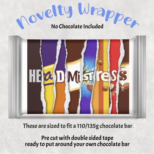 Head Mistress Chocolate Bar Wrapper