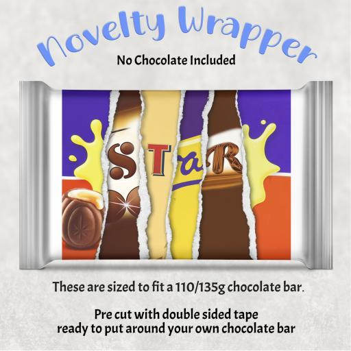 Star Chocolate Bar Wrapper