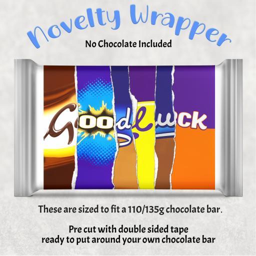 Good Luck Chocolate Bar Wrapper