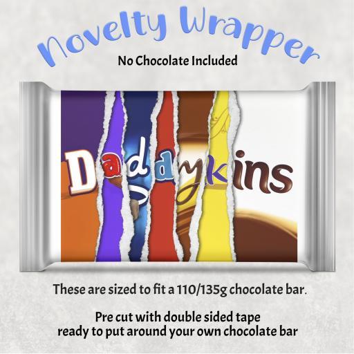 Daddykins Chocolate Bar Wrapper