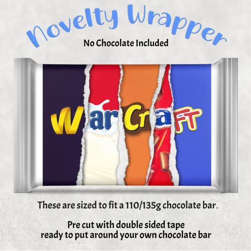 Warcraft Chocolate Bar Wrapper
