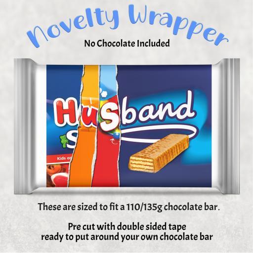 Husband Chocolate Bar Wrapper 1