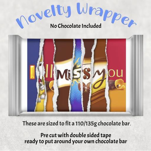 I'll Miss You Chocolate Bar Wrapper