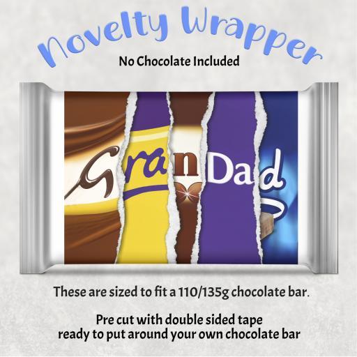 Grandad Chocolate Bar Wrapper