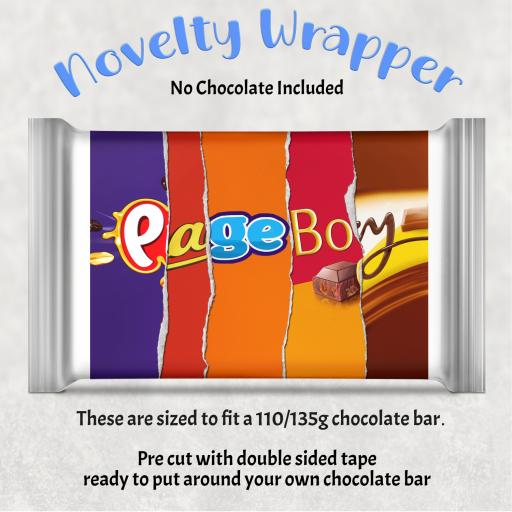 Page Boy Chocolate Bar Wrapper