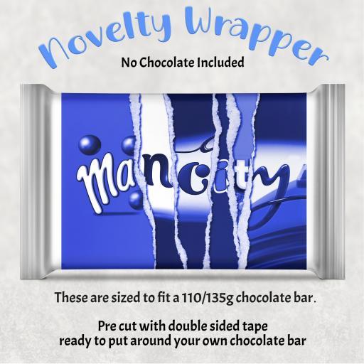 Man City 2 Chocolate Bar Wrapper
