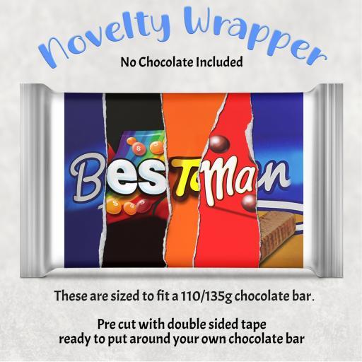Best Man Chocolate Bar Wrapper
