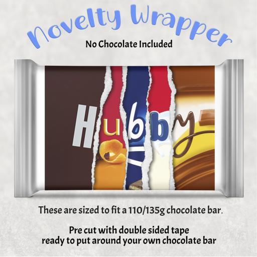Hubby Chocolate Bar Wrapper