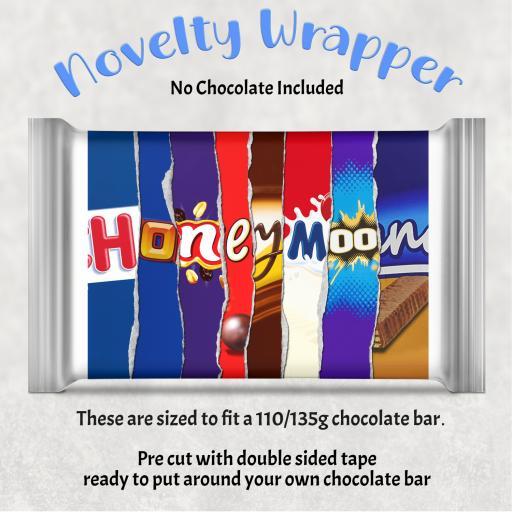 Honeymoon Chocolate Bar Wrapper