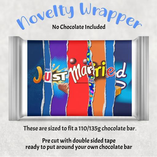 Just Married Chocolate Bar Wrapper