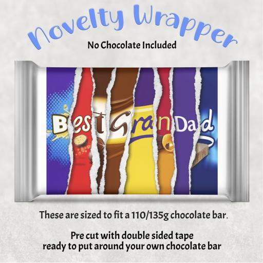 Best Grandad Chocolate Bar Wrapper