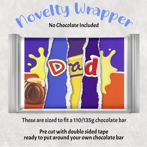 Dad Chocolate Bar Wrapper