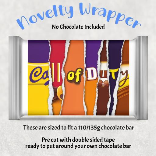 Call of Duty Chocolate Bar Wrapper