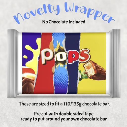 Pops Chocolate Bar Wrapper