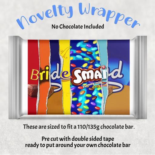 Bridesmaid Chocolate Bar Wrapper