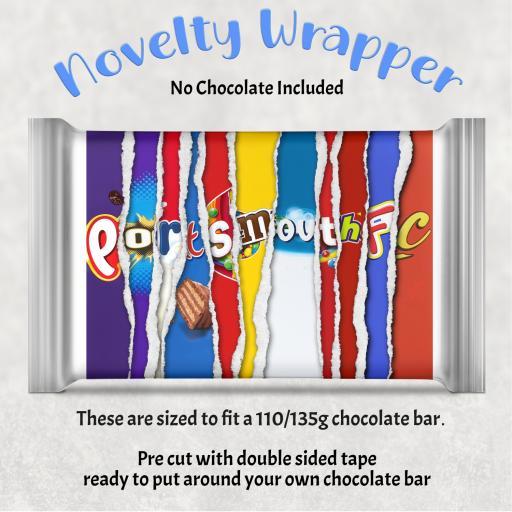 Portsmouth FC Chocolate Bar Wrapper