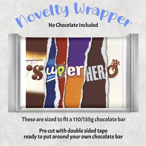 Super Hero Chocolate Bar Wrapper