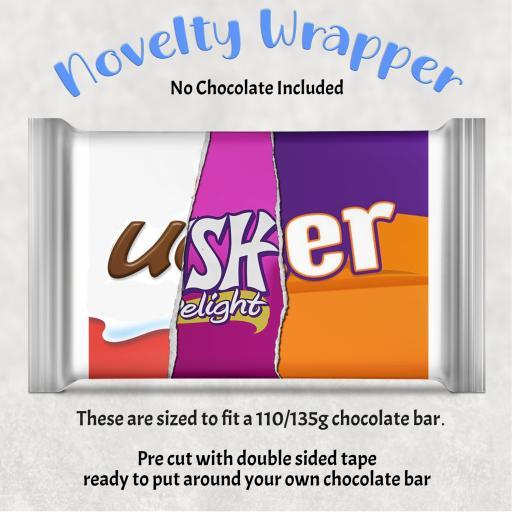 Usher Chocolate Bar Wrapper