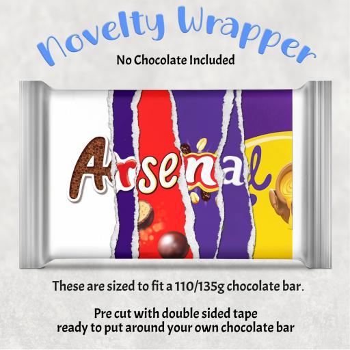Arsenal Chocolate Bar Wrapper