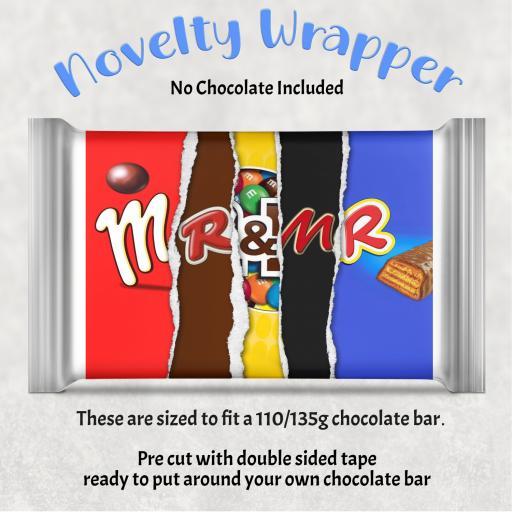 Mr & Mr Chocolate Bar Wrapper