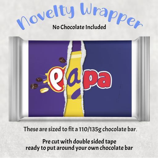 Papa Chocolate Bar Wrapper